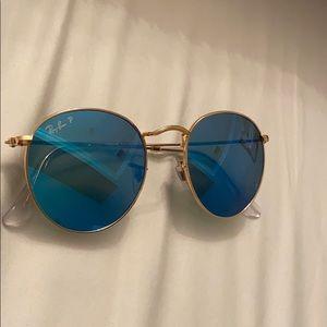 Blue Circle Ray Ban Sunglasses polarized